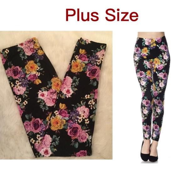 14a04bfb811546 Misty Pearl Pants | Plus Size Floral Leggings | Poshmark